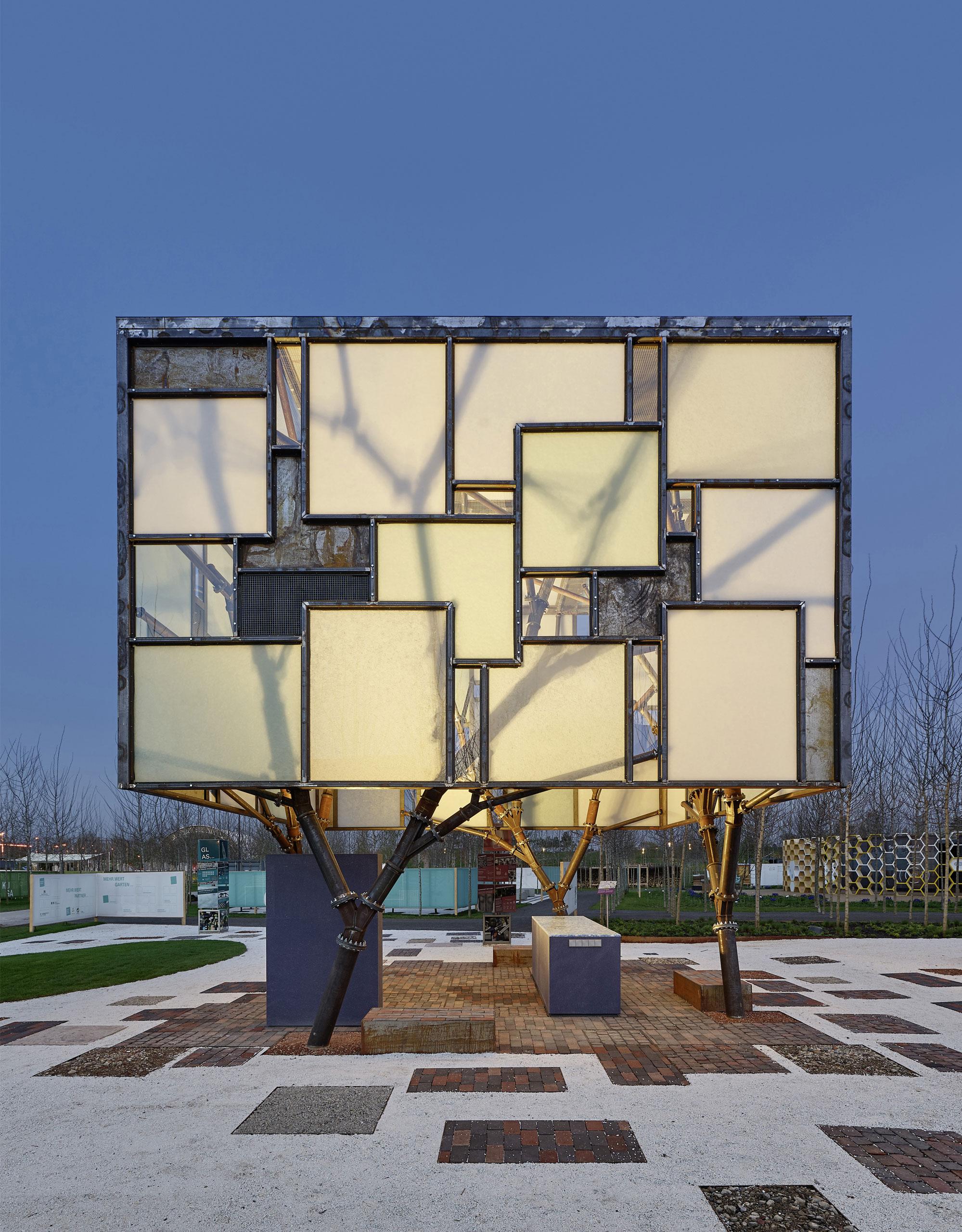 MAGNA Glaskeramik as facade of the Mehr.WERT.Pavillon (Value.ADDED.Pavilion) © Zooey Braun